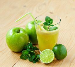 Suco De Maçã Verde, Limão E Mel