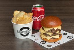 Combo Triple Cheeseburger