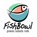 FISH BOWL pokes, saladas e rolls background