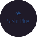 Sushi Blue background