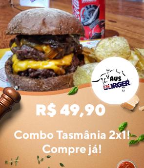 Aus Burger - RappiPromo 2x1 Tasmãnia