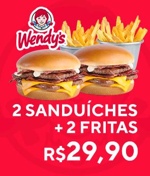 2 sanduiches + 2 fritas por R$29,9